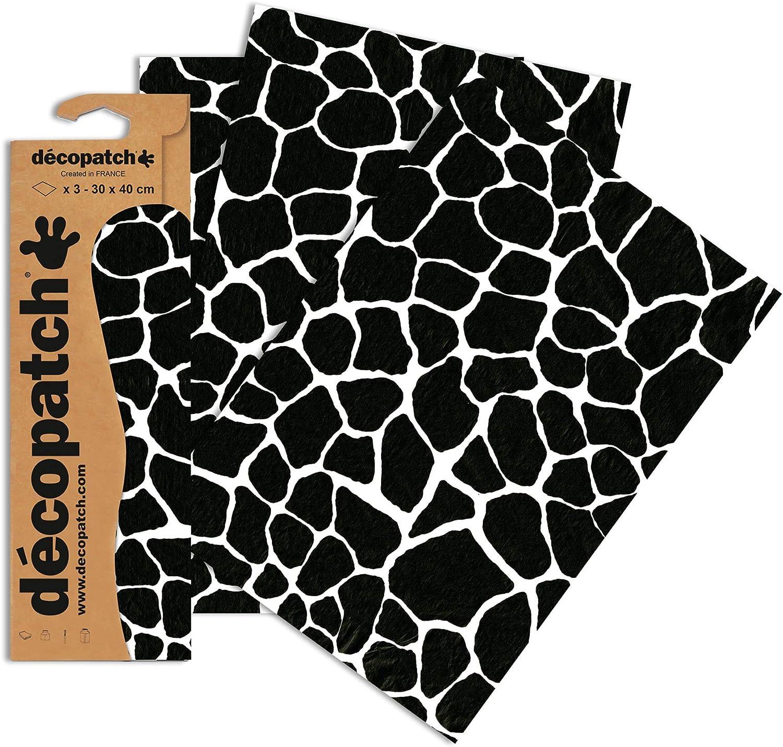 3 St/ück Decopatch Bastelpapier ber/ühmte Geb/äude 395 x 298 mm