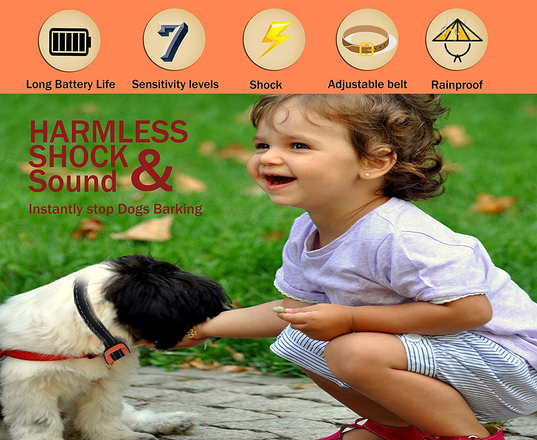 Upgrade 2019 Science and Intelligent Anti Bark Shock Collar MASBRILL Shock Bark Collar Safe No Bark Dog Collar for Small Medium Big Dog Stop Barking Effective by Harmless Shock and Sounds