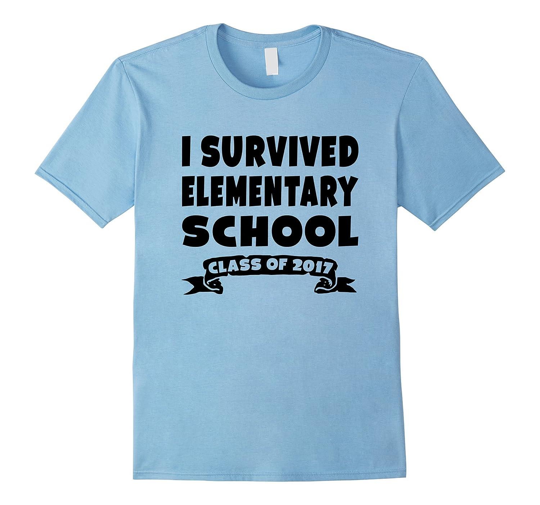 I Survived Elementary School 2017 Graduation T-Shirt Gift-Vaci