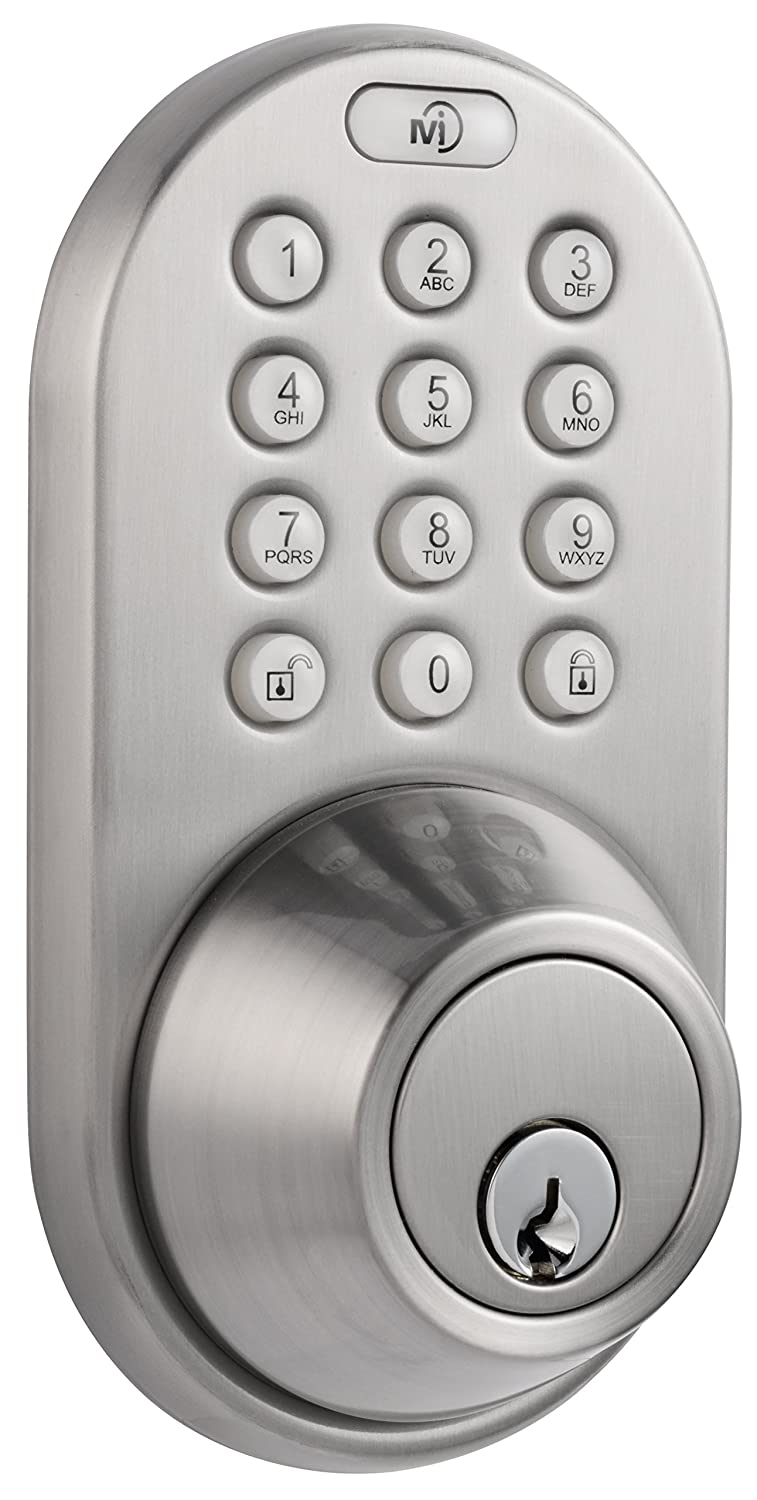 MiLocks DF 02SN Electronic Keyless Entry Touchpad Deadbolt Door Lock      Amazon.com