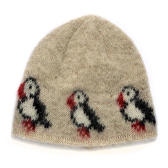 eb0dd47f9cb kidka 012 Icelandic Knitted hat - Puffin - beige (one size)  Amazon.co.uk   Clothing