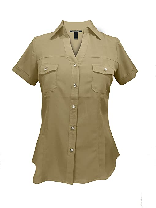 1930s Style Tops, Blouses & Sweaters Millenium Womens Work Shirt $25.00 AT vintagedancer.com
