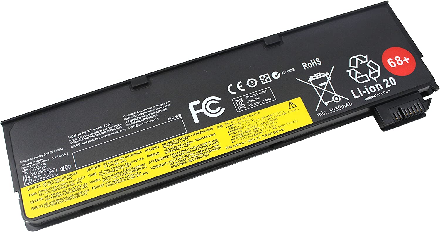 Shareway 6 Cell Replacement Laptop Battery for Lenovo ThinkPad X240 X250 T440 T440s T450s T550 K2450 45N1134 45N1135 [10.8V 48WH]