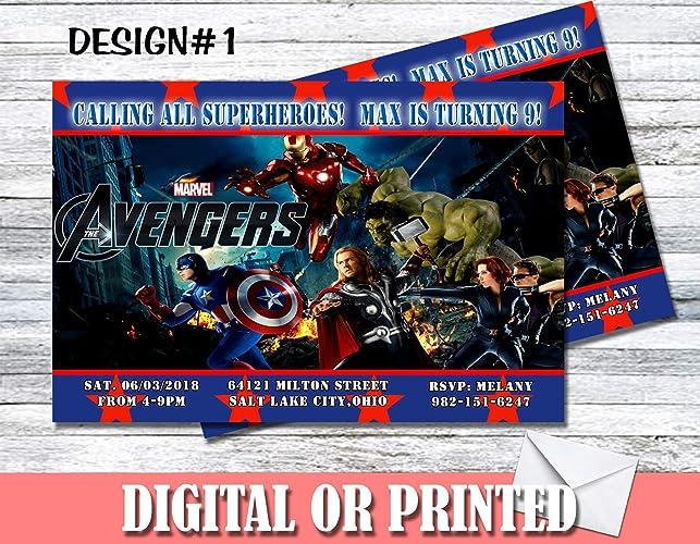 Amazon Avengers Personalized Birthday Invitations More Designs