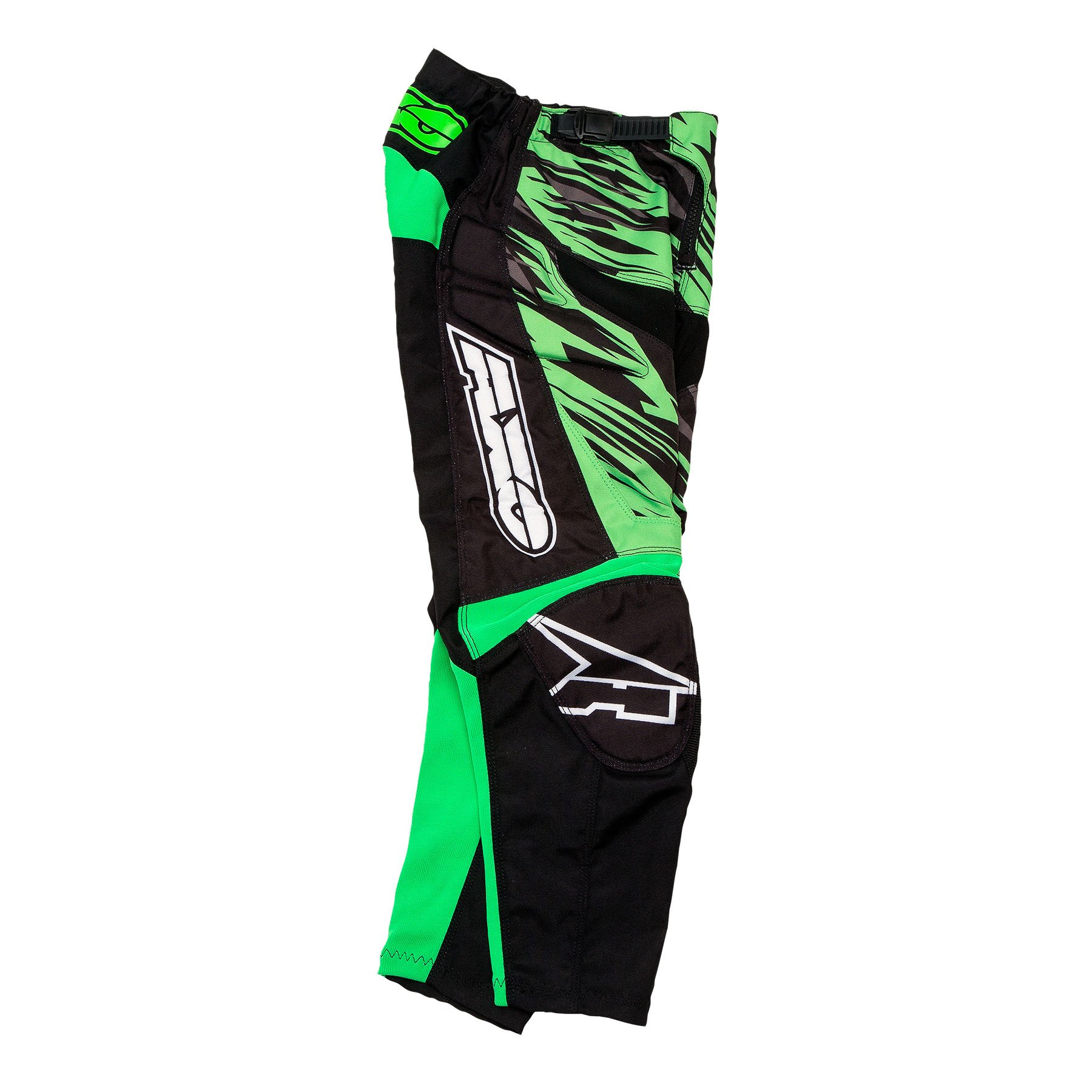 AXO Prodigy Junior Pants (Black/Fluorescent Green, Size 26)