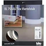 2 x Biegesockelleiste SK001 10x44mm wei/ß