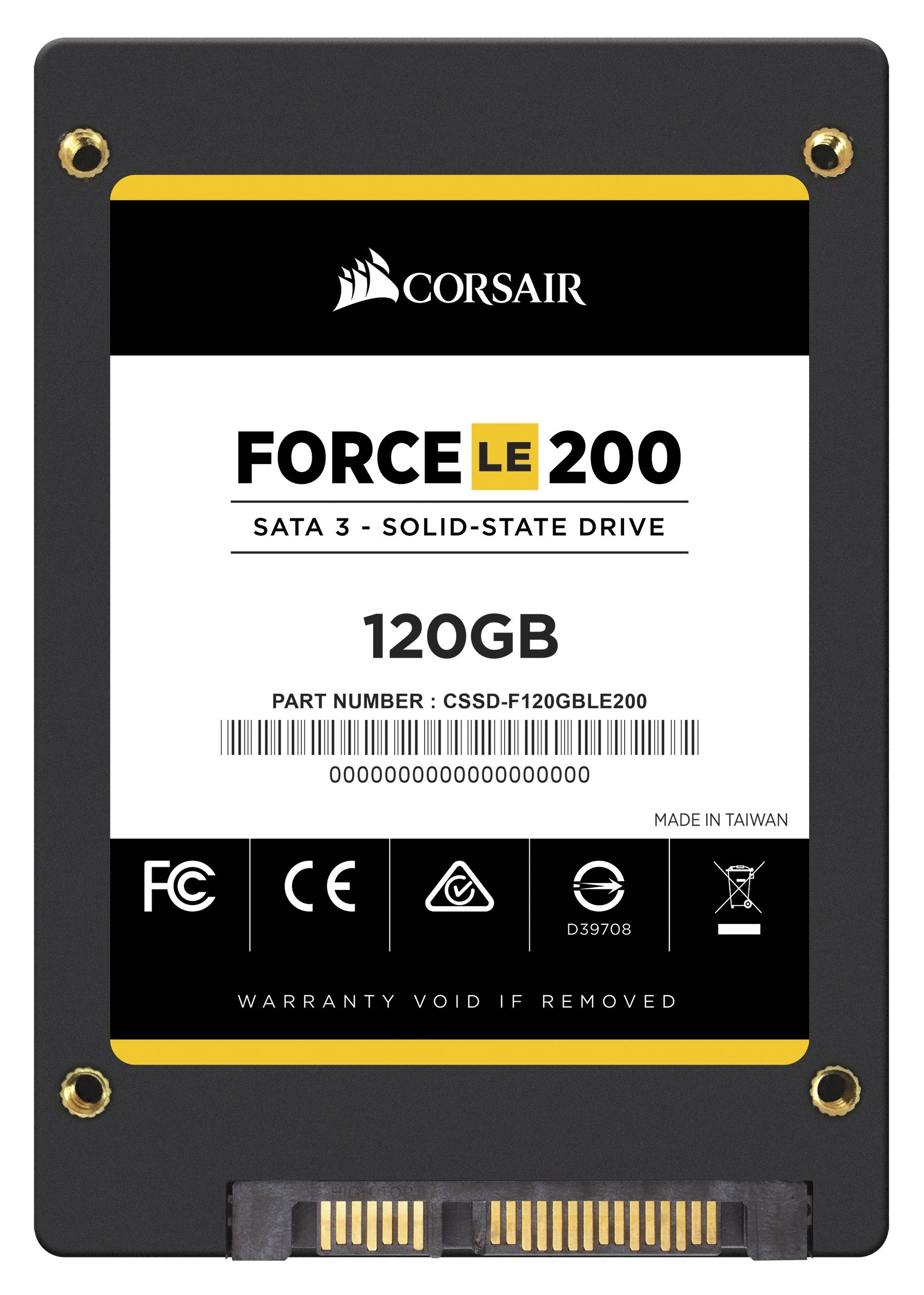 Corsair Memory Only Corsair Force Series LE200 SSD, SATA 6Gbps 120GB 2.5 inches CSSD-F120GBLE200B by Corsair (Image #4)
