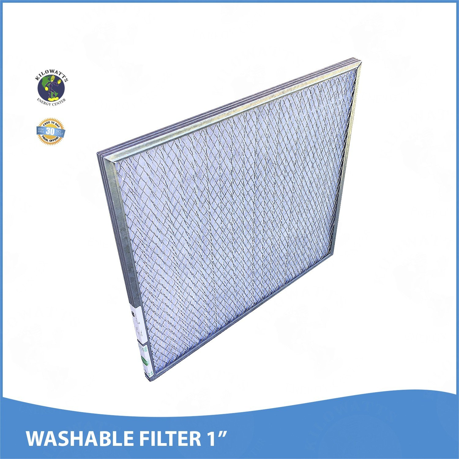 24x30x1 Washable Permanent A/C Furnace Air Filter by Kilowatts Energy Center (Image #2)