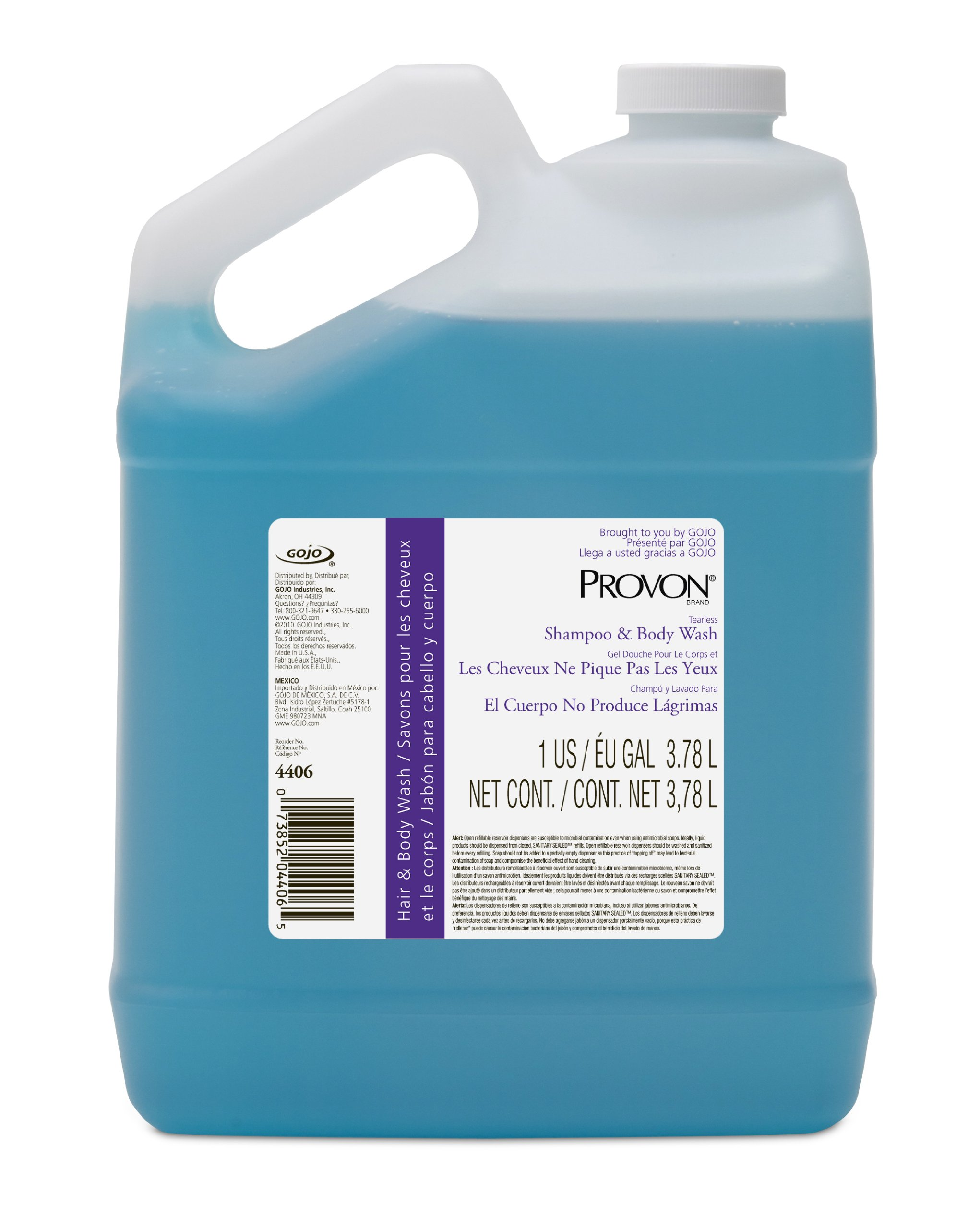 Provon 4406-04 Tearless Shampoo and Body Wash, 1 Gallon