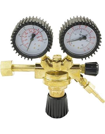 Reductor de presión IPOTOOLS Regulador de presión para equipos de soldadura de argón/CO2 gas