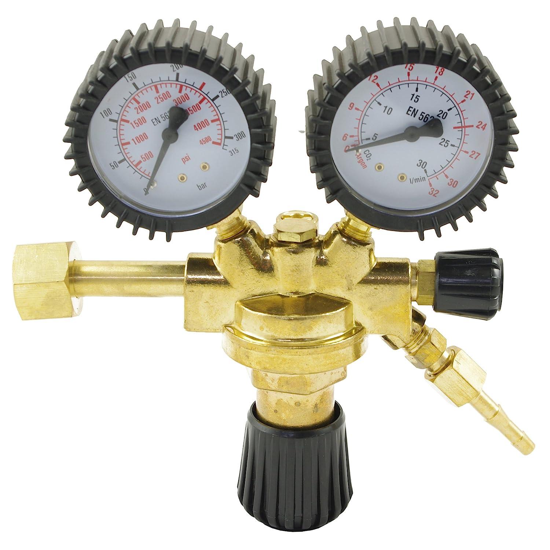 Reductor de presión para soldadura de argón/CO2 gas inerte a MIG/MAG
