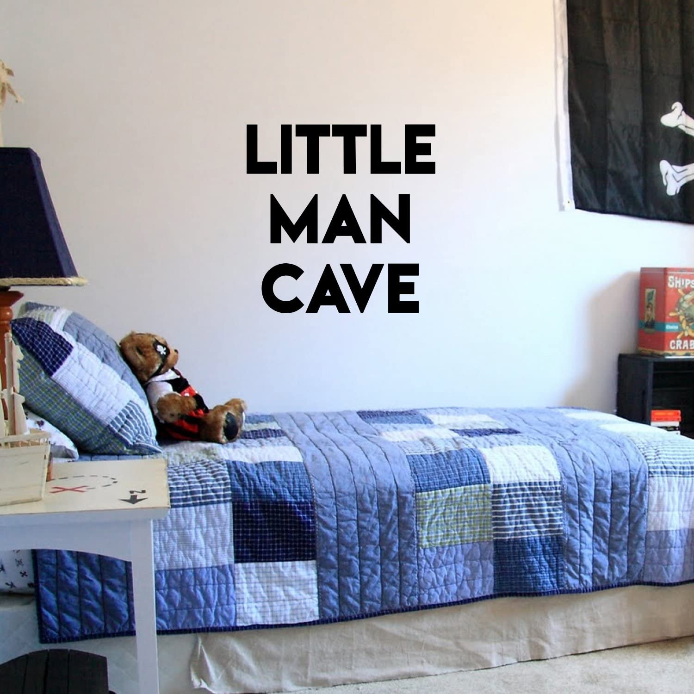 Amazon Com Vinyl Wall Art Stickers For Baby Boys Nursery Room Little Man Cave 20 X 20 Boys Bedroom Vinyl Wall Decor Cute Wall Art Decals For Toddler Childrens