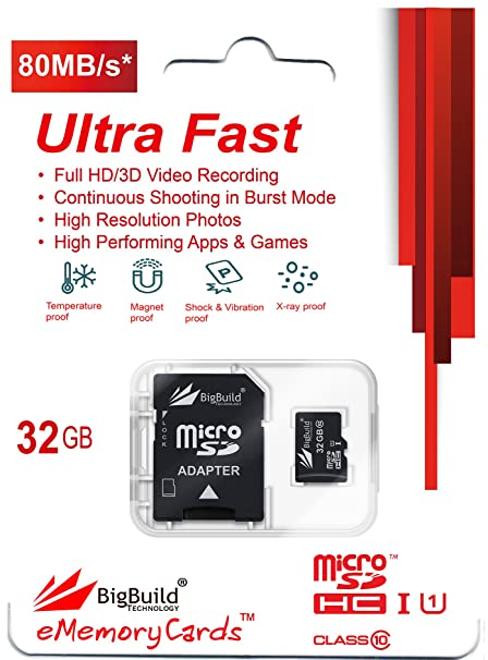 Class 10 supported Ultra HD; 32GB Memory Card for Huawei MediaPad T3 7