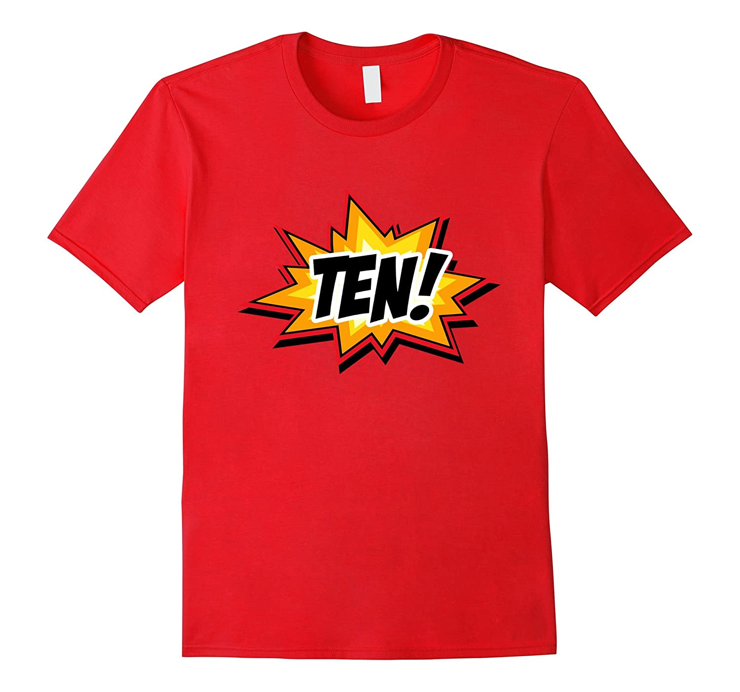 SuperHero Birthday Shirt 10 Year Old Boys and Girls ALL AGES-TH