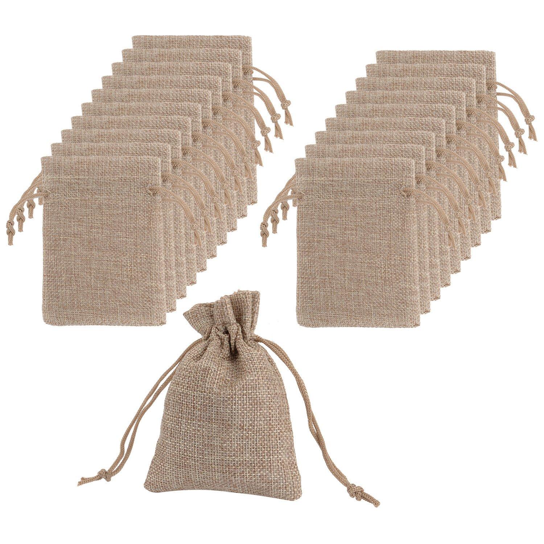 Sacs de Lin avec des Sacs Cadeaux Drawstring pour Fête Mariage et Bricolage, 4.5 x 3.5 Pouces, Lot de 20 Mudder Mudder-Gift Bags-01