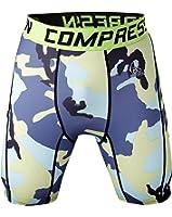 Fringoo Men Workout Compression Short Tights Running Shorts Gym Legging Base Layer Bottom Thermal Pants Sport Training Cycling