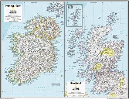 Cartina Geografica Della Scozia.National Geographic Mappa Da Parete In Irlanda E Scozia 71 X 55 9 Cm Rotolo Di Carta Amazon It Cancelleria E Prodotti Per Ufficio