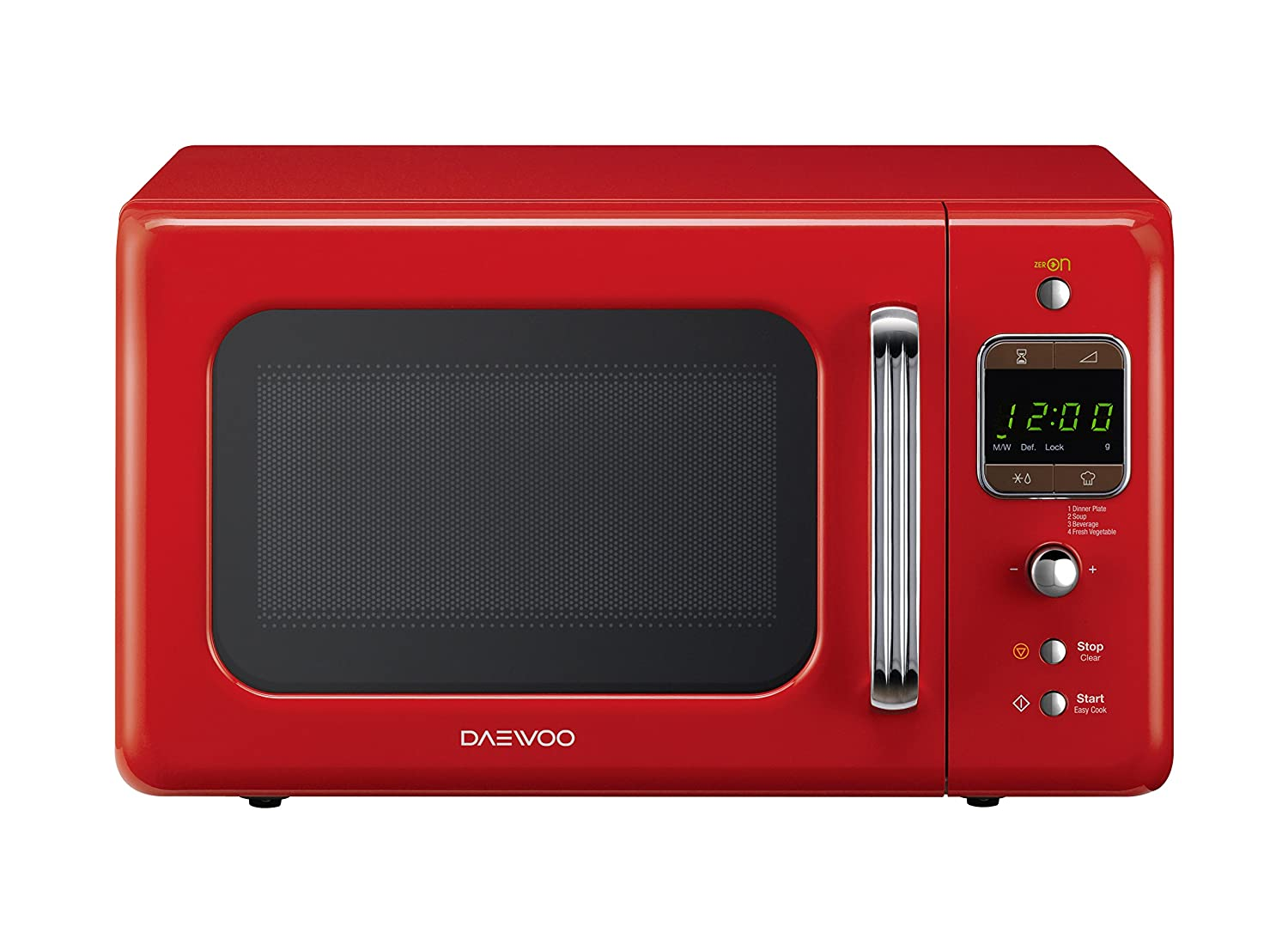 Daewoo KOR-6LBR Forno a Microonde Digitale, Rosso, 20 lt: Amazon ...