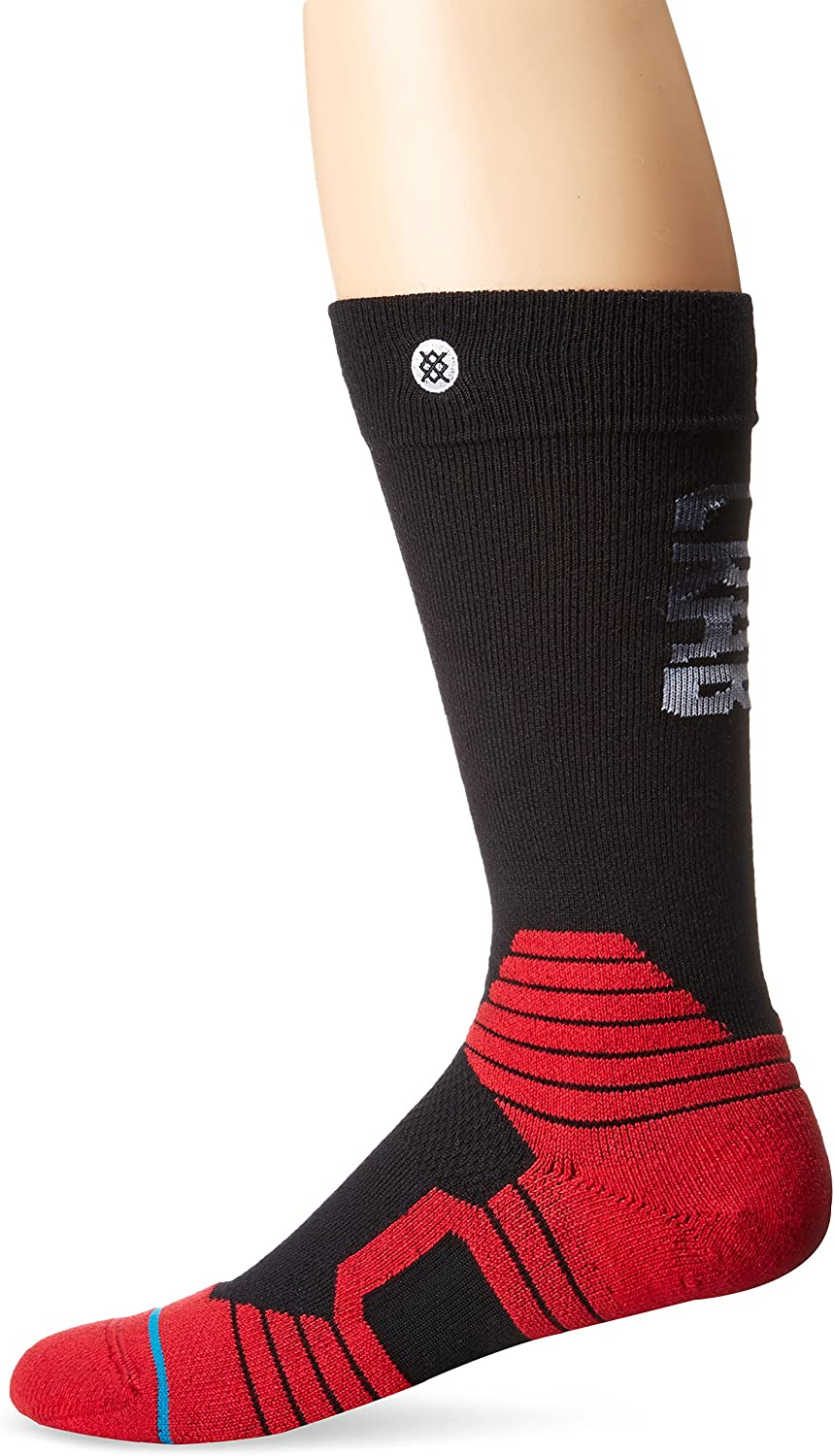 Stance Mens Crab Grab Pinch Merino Wool Insulating Graduated Compression Claw Over the Calf Arch Support Snowboard Sock