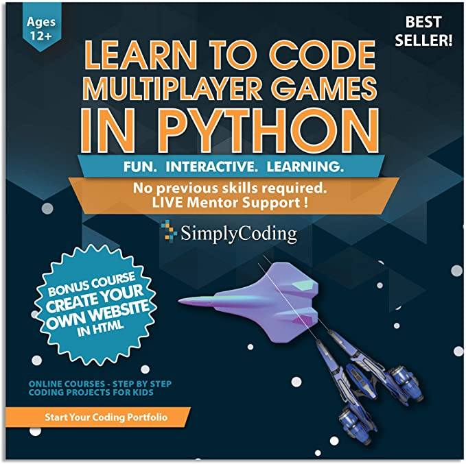 Amazon Com Coding For Kids Learn To Code Python Multiplayer Adventure Games Video Game Design Coding Software Computer Programming For Kids Ages 12 18 Pc Mac Compatible