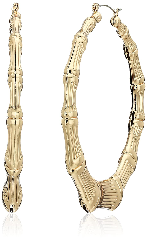 af00cda107b5a Guess Metal Hoops Women's Bamboo Hoop Earrings, Gold, One Size