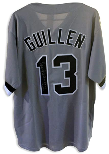 f80a5a45a10 Image Unavailable. Image not available for. Color  Ozzie Guillen Chicago  White Sox Autographed Gray Jersey Inscribed quot 05 ...