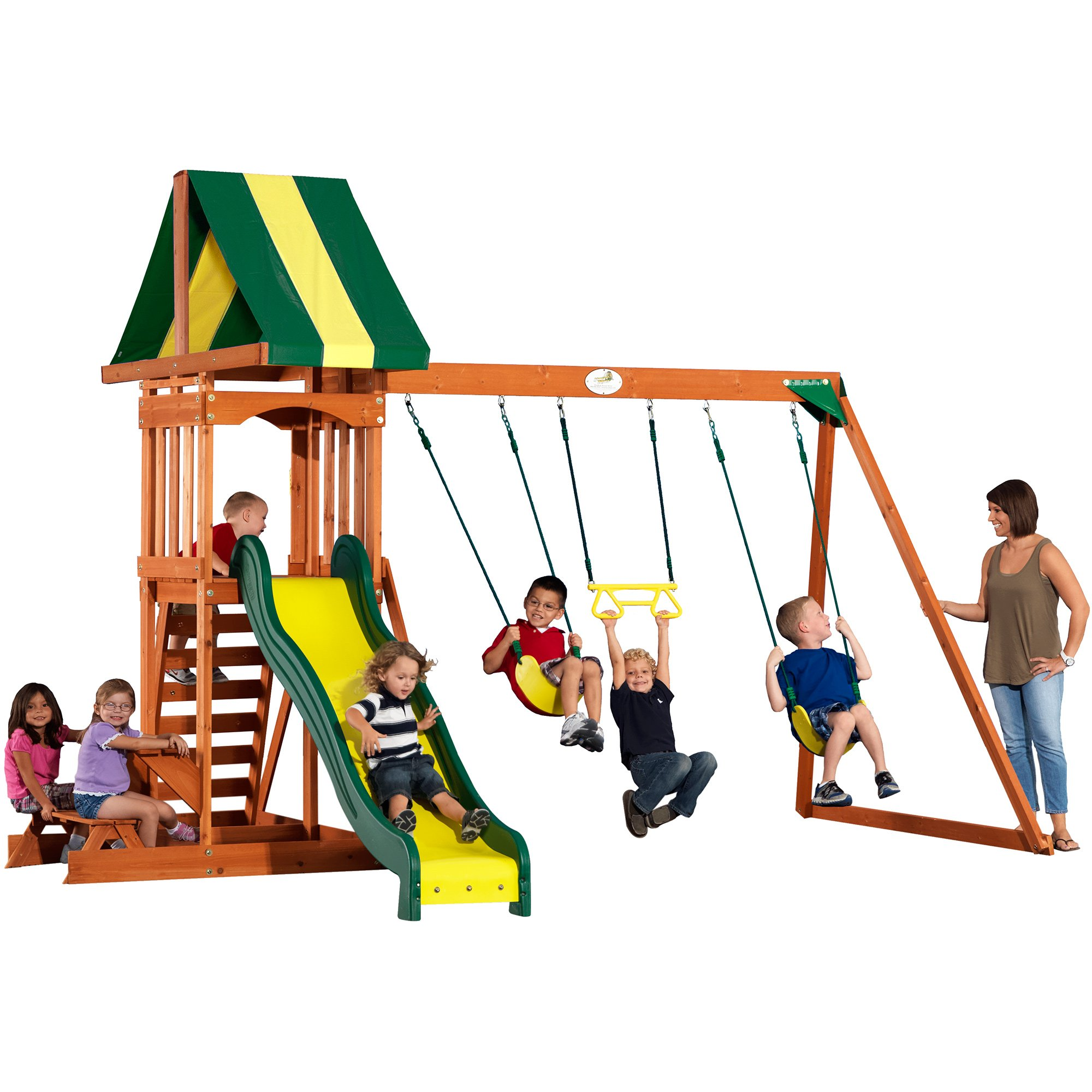 Backyard Discovery Prestige All Cedar Wood Playset Swing Set by Backyard Discovery