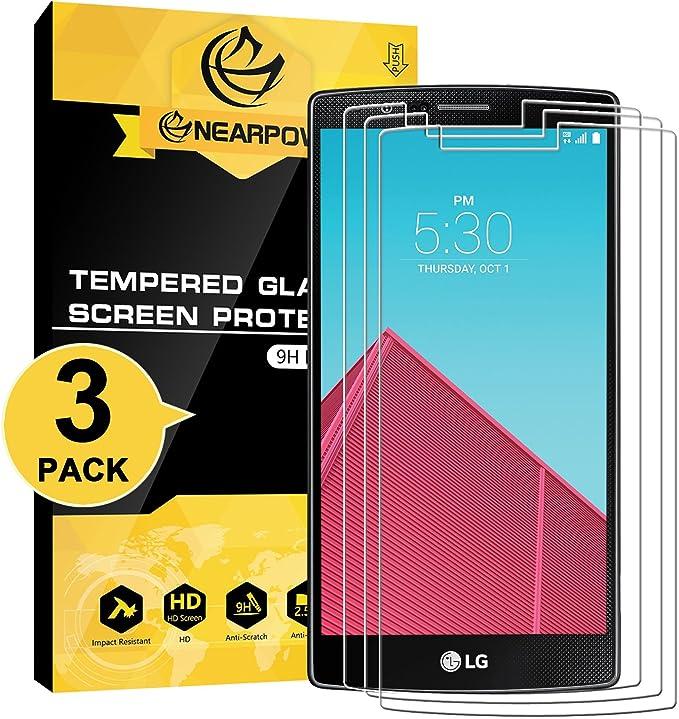 LG G4 Protector de Pantalla, NEARPOW [3 Unidades] Cristal Templado ...