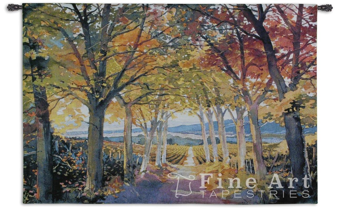 Fine Art Tapestries ''Autumn Path'' Wall Tapestry