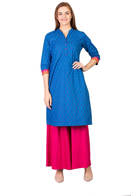 Women Designer Printed Straight Kurta Kurti top Tunic Dress