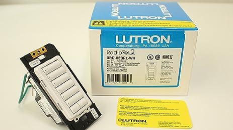 81Iy4eAYwbL._SX463_ amazon com lutron (86900) rrd h6brl wh radiora 2 hybrid wall lutron hybrid keypad wiring diagram at mr168.co