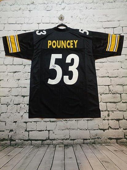 d25ef401636 Signed Maurkice Pouncey Jersey - black pro style Witness - JSA Certified -  Autographed NFL Jerseys