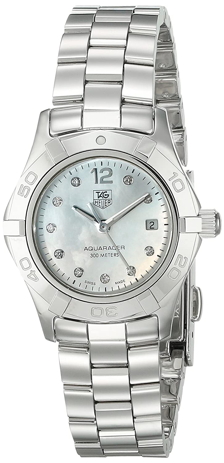 8937778f453 Amazon.com  TAG Heuer Women s WAF1415.BA0824 Aquaracer 28mm Stainless Steel  Diamond Dial Watch  Tag Heuer  Watches