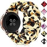 Huishang 20mm 22mm Quick Release Watch Bands, Elastic Scrunchie Watch Band for Women(Leopard,20/22mm)