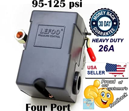 Lefoo pressure switch control 90 125psi 4 port heavy duty 26 amp for lefoo pressure switch control 90 125psi 4 port heavy duty 26 amp for air compressor cheapraybanclubmaster Images