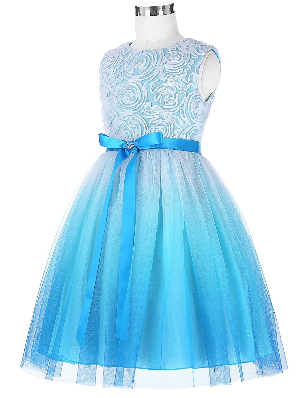 Amazon.com: GRACE KARIN Girls Sleeveless Rose Princess Party Dresses ...