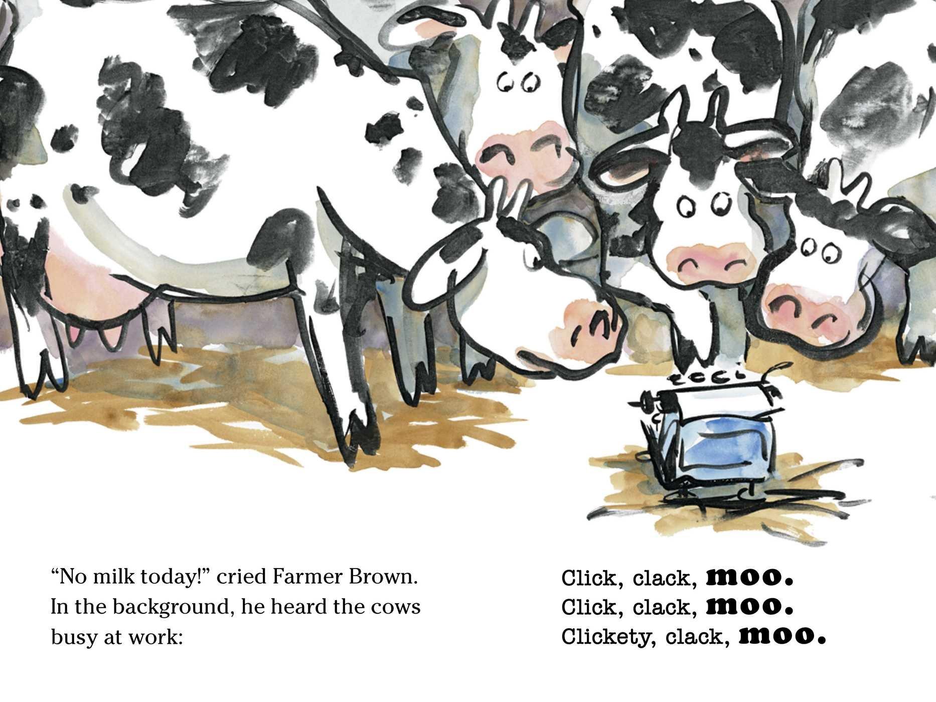 click clack moo cows that type a click clack book