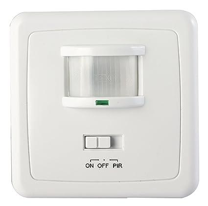 Detector de movimiento 1200 W Interruptor de luz LED, infrarrojos, para empotrar en pared