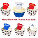 12 Edible Football Shirts Cake Decorations - UK TEAMS. Use the drop down menu to find your team
