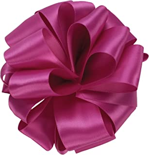 product image for Offray Single Face Satin Craft Ribbon, 3/8-Inch by 100-Yard Spool, Wild Berry