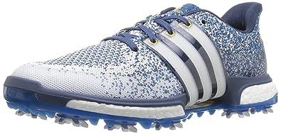 adidas uomini tour360 primo impulso scarpa da golf, una fatwa bianco / shock blu