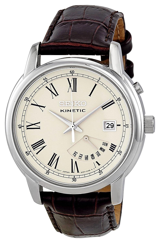 Seiko SRN033P1 - Reloj analógico de cuarzo para hombre con correa de piel, color marrón: Seiko: Amazon.es: Relojes