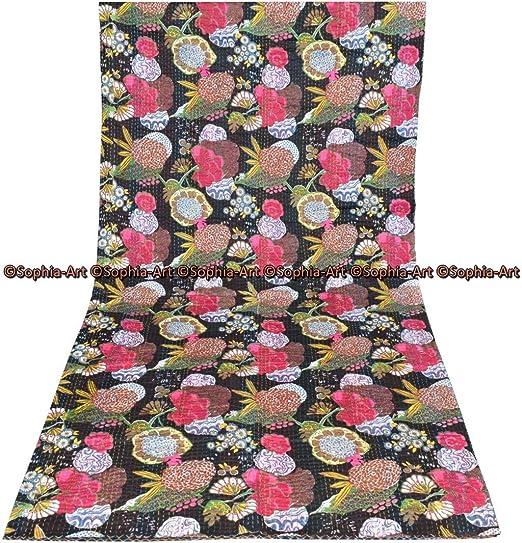 """Nuevo ** gasa de calidad superior y Amarillo//Verde Tela Bordado Floral Print /& 44/""""w"""