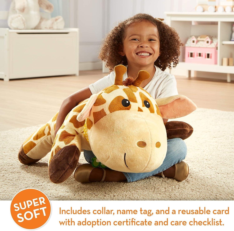 Melissa & Doug Cuddle Giraffe Jumbo Plush with Activity Card