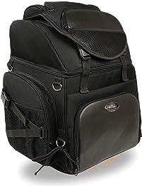 Milwaukee Performance SH689 Black Large Nylon Sissy Bar Bag with Back Pack Straps