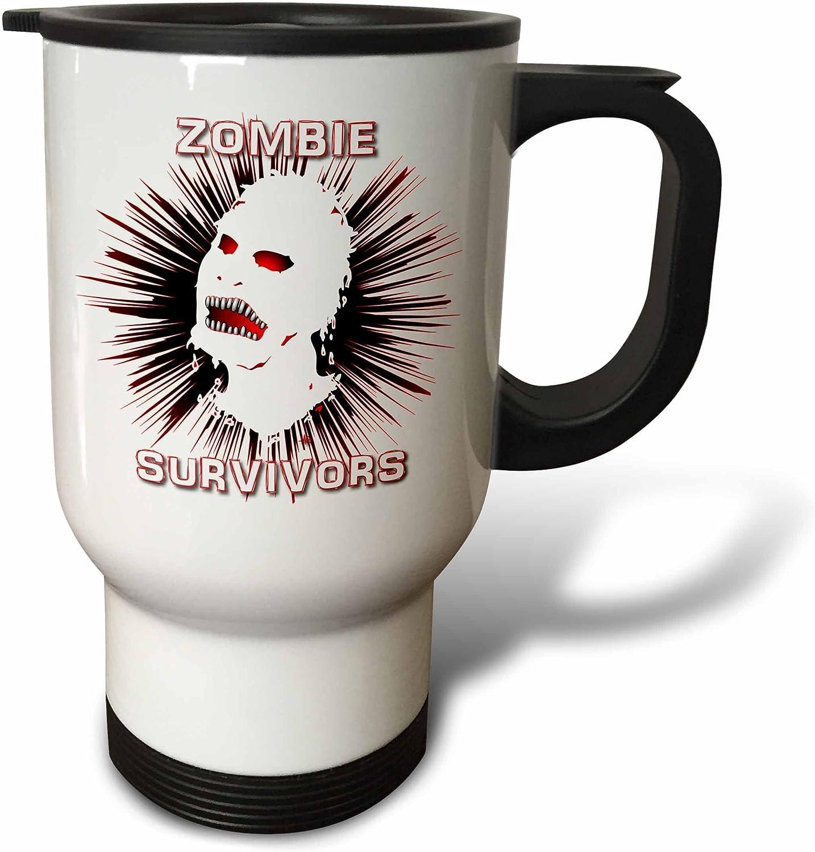 3drose Tm 25034 1 Icon Zombie Survivors 2 On White Travel Mug Stainless Steel Multicolor Amazon Co Uk Kitchen Home
