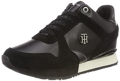 e13e9d520 Tommy Hilfiger Women s Camo Metallic Wedge Sneaker Low-Top  Amazon ...