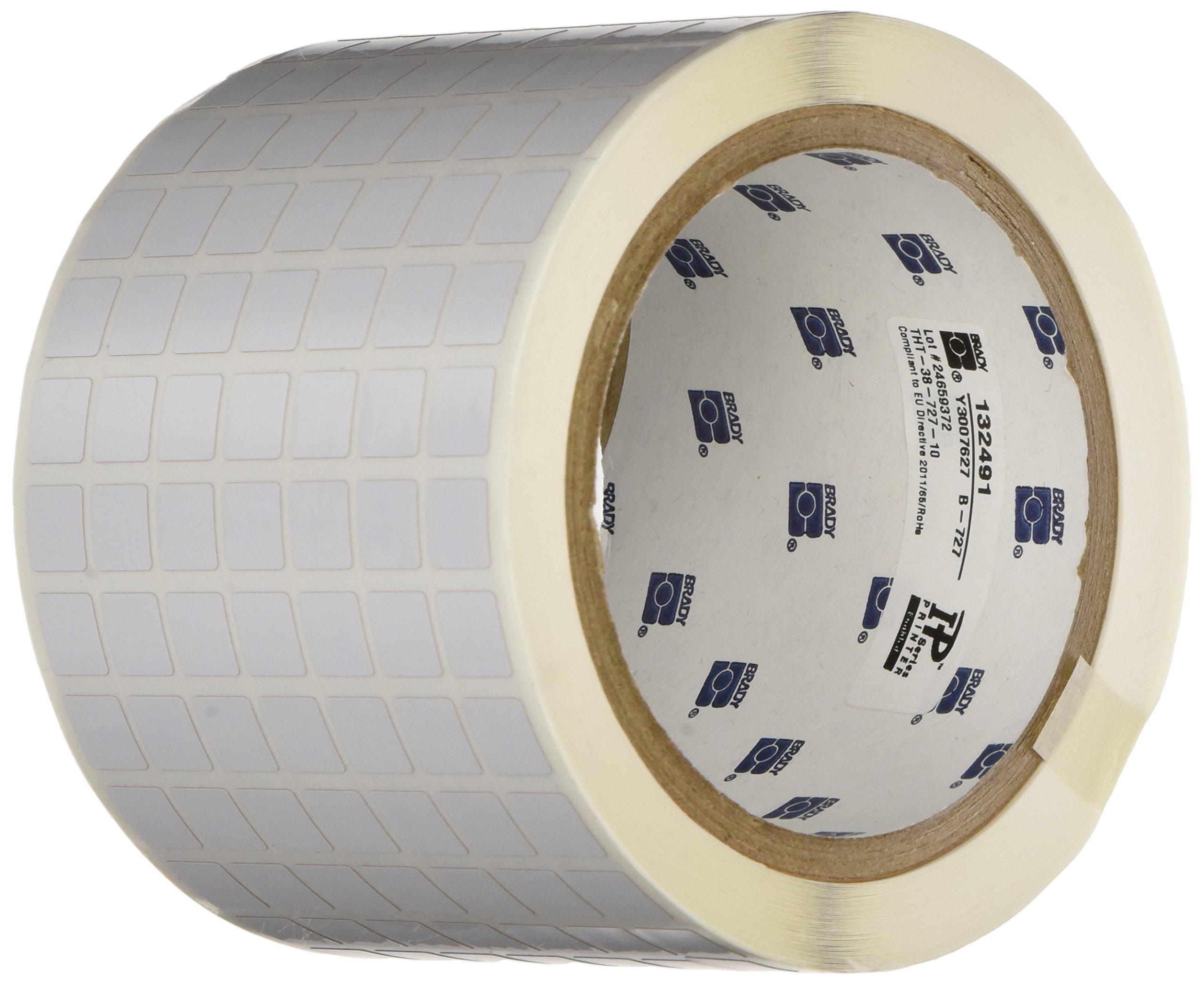 Brady THT-38-727-10 Thermal Transfer Printer Label, White