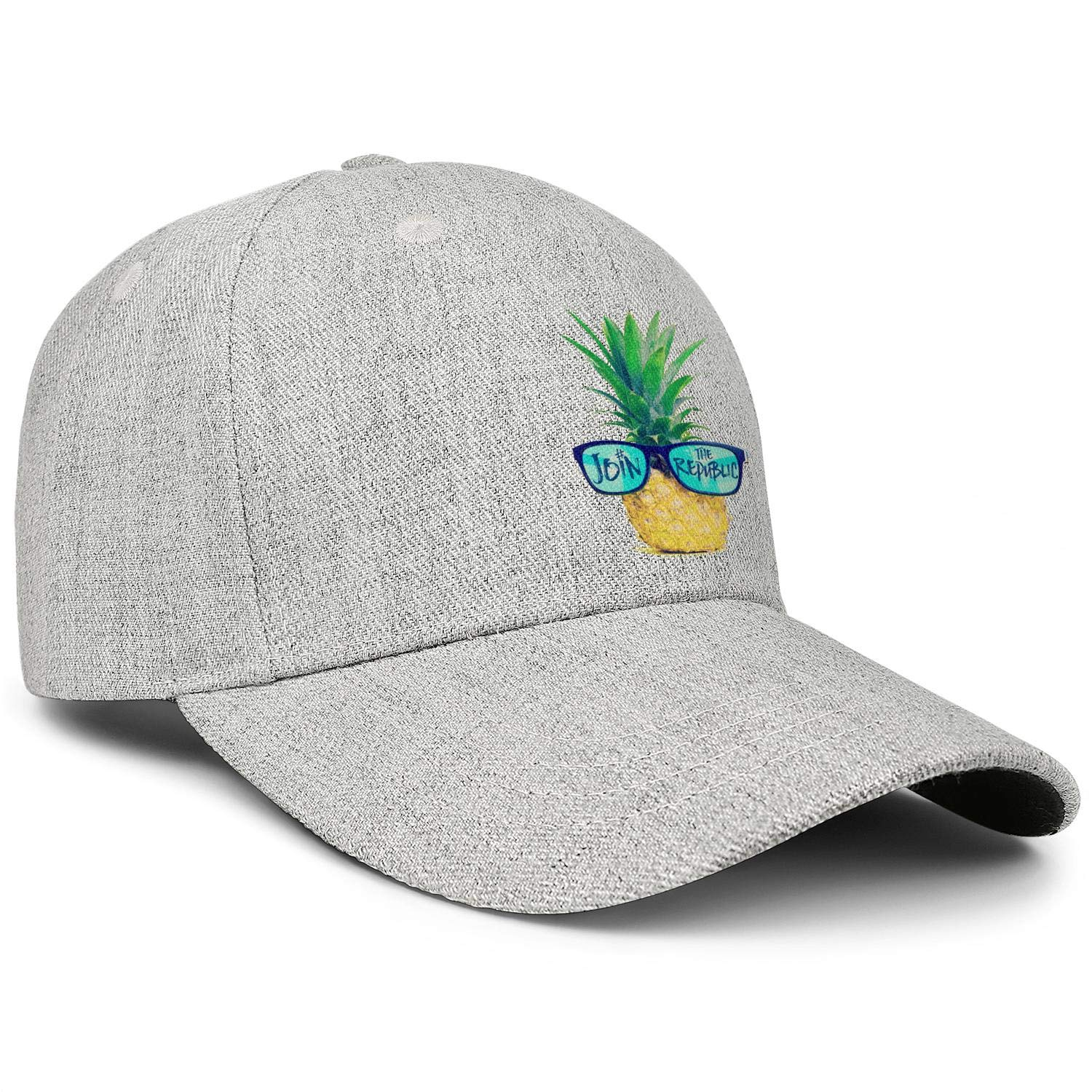 Gold Pineapple in Fashion Sunglasses Unisex Baseball Cap Outdoor Sun Hats Adjustable Trucker Caps Dad-Hat