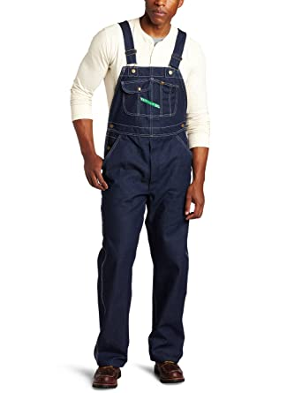 3973887b403 Key Apparel Men s Garment Washed Zip Fly High Back Bib Overall - 32W x 30L -